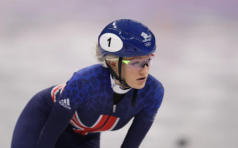 Elise Christie of Great Britain leads during the LadiesÂ' 500m Short Track Speed Skating qualifying on day one of the PyeongChang 2018 Winter Olympic Games at Gangneung Ice Arena on February 10, 2018 in Gangneung, South Kore - Getty Images/ Richard Heathcote