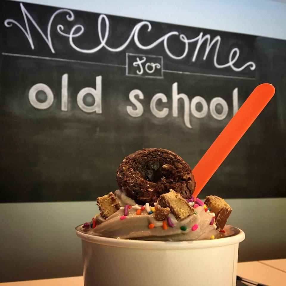 """<p><strong><a href=""""https://www.yelp.com/biz/old-school-frozen-yogurt-and-coffee-co-sweet-springs-2"""" rel=""""nofollow noopener"""" target=""""_blank"""" data-ylk=""""slk:Old School Frozen Yogurt & Co."""" class=""""link rapid-noclick-resp"""">Old School Frozen Yogurt & Co.</a>, Sweet Springs</strong></p><p>""""This is definitely worth driving to. It's just off the beaten path in the smallest of towns but the coffee, customer service, and atmosphere are just perfect. There's even a frozen yogurt place right in the same room. I highly recommend making a stop here!"""" - Yelp user <a href=""""https://www.yelp.com/user_details?userid=bgRHkt3Q5bB8yG1QbplmXg"""" rel=""""nofollow noopener"""" target=""""_blank"""" data-ylk=""""slk:Gresham H."""" class=""""link rapid-noclick-resp"""">Gresham H.</a></p><p>Photo: Facebook/<a href=""""https://www.facebook.com/110104642470381/photos/a.1252119211602246/1252119351602232/?type=3&theater"""" rel=""""nofollow noopener"""" target=""""_blank"""" data-ylk=""""slk:Old School Frozen Yogurt & Co."""" class=""""link rapid-noclick-resp"""">Old School Frozen Yogurt & Co.</a></p>"""