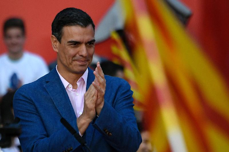 Prime Minister Pedro Sanchez is hoping his Socialists will perform well so he can go ahead with his preferred plan to form a minority government (AFP Photo/LLUIS GENE)