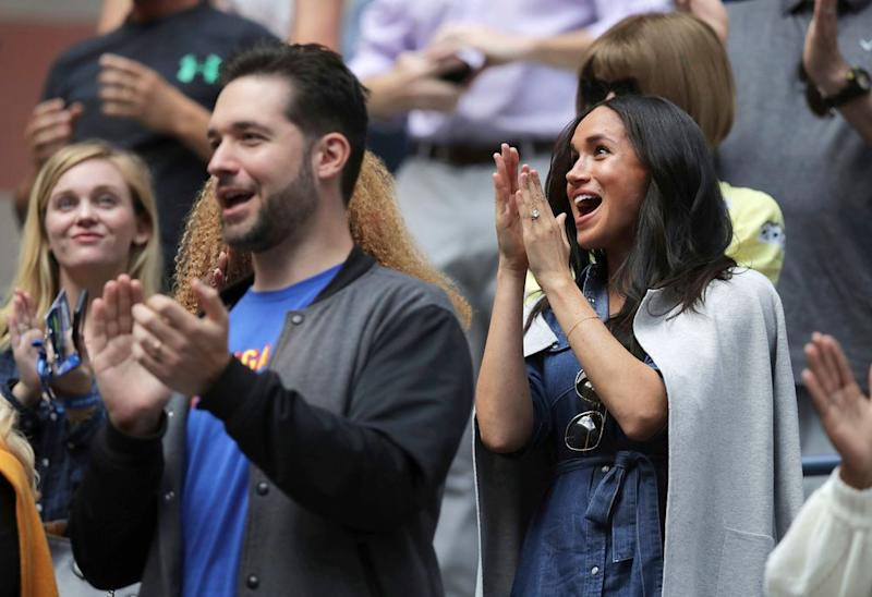Serena Williams' husband Alexis Ohanian and Meghan Markle at the US Open | Charles Krupa/AP/Shutterstock