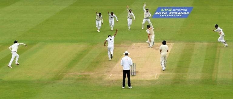 Under pressure - England opener Dom Sibley falls for nought in the second Test against India at Lord's on Monday