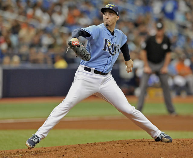 Tampa Bay Rays starter Blake Snell is the biggest snub of All-Star voting. (AP Photo).