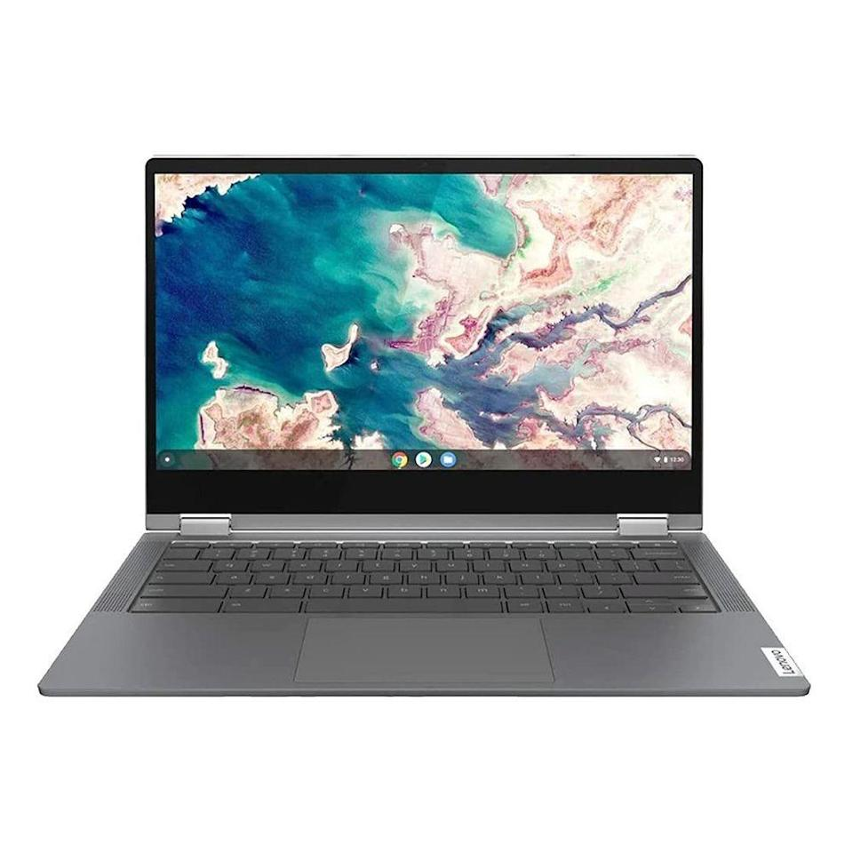 """<p><strong>Lenovo</strong></p><p>amazon.com</p><p><strong>$365.00</strong></p><p><a href=""""https://www.amazon.com/dp/B086383HC7?tag=syn-yahoo-20&ascsubtag=%5Bartid%7C2089.g.37199069%5Bsrc%7Cyahoo-us"""" rel=""""nofollow noopener"""" target=""""_blank"""" data-ylk=""""slk:Shop Now"""" class=""""link rapid-noclick-resp"""">Shop Now</a></p><p>Often priced below $400, the Lenovo Chromebook Flex 5 is one of <a href=""""https://www.bestproducts.com/tech/electronics/g397/best-chromebook-laptop-reviews/"""" rel=""""nofollow noopener"""" target=""""_blank"""" data-ylk=""""slk:our favorite Chromebooks"""" class=""""link rapid-noclick-resp"""">our favorite Chromebooks</a> out there. It has a zippy 64GB solid-state drive, 4GB of RAM, a 360-degree rotating touchscreen display, and Intel's powerful 10th-generation Core i3 processor. This one is even equipped with a backlit keyboard that'll come in handy for late-night work sessions.</p>"""