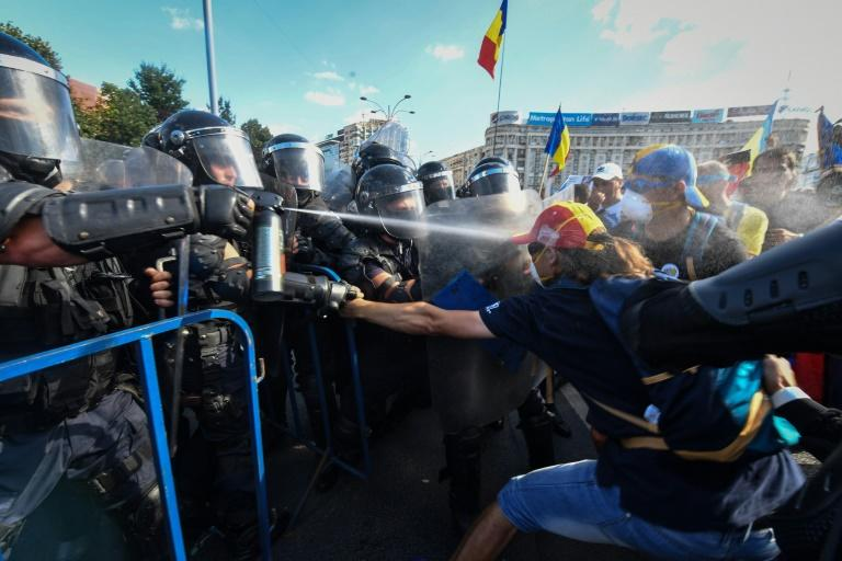 Police used teargas, water cannon, pepper spray and batons during the August 10 rally attended by 80,000 people -- many of them Romanians living abroad who returned to call on the government to resign