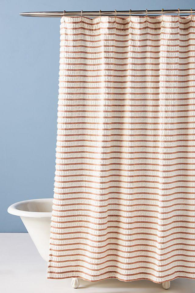 """<br><br><strong>Anthropologie</strong> Woven Colby Shower Curtain, $, available at <a href=""""https://go.skimresources.com/?id=30283X879131&url=https%3A%2F%2Fwww.anthropologie.com%2Fshop%2Fwoven-colby-shower-curtain"""" rel=""""nofollow noopener"""" target=""""_blank"""" data-ylk=""""slk:Anthropologie"""" class=""""link rapid-noclick-resp"""">Anthropologie</a>"""