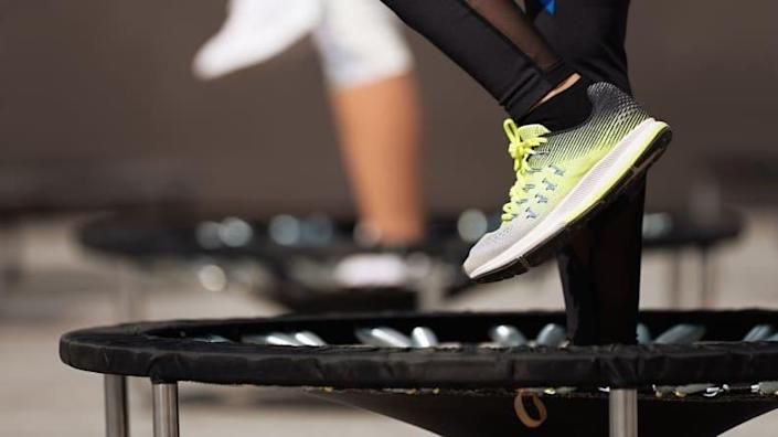 Get your heart rate up with a rebounder.