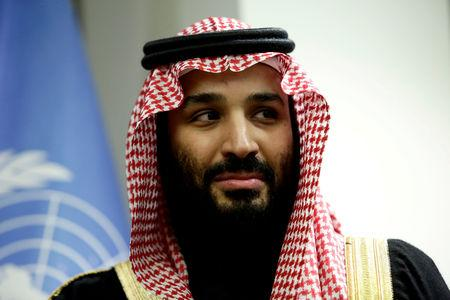 FILE PHOTO: Saudi Arabia's Crown Prince Mohammed bin Salman Al Saud meets U.N. Secretary-General Guterres in New York