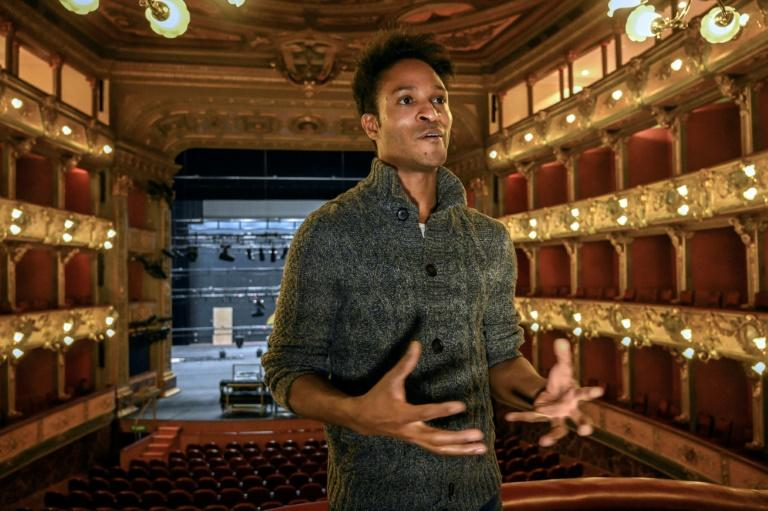 "Colombian dancer Fernando Fernando Montano tells AFP in an interview at Bogota's Colon Theater about his own experience as a young migrant forced from his homeland: ""I had to learn foreign languages, adapt to the society of those countries"""