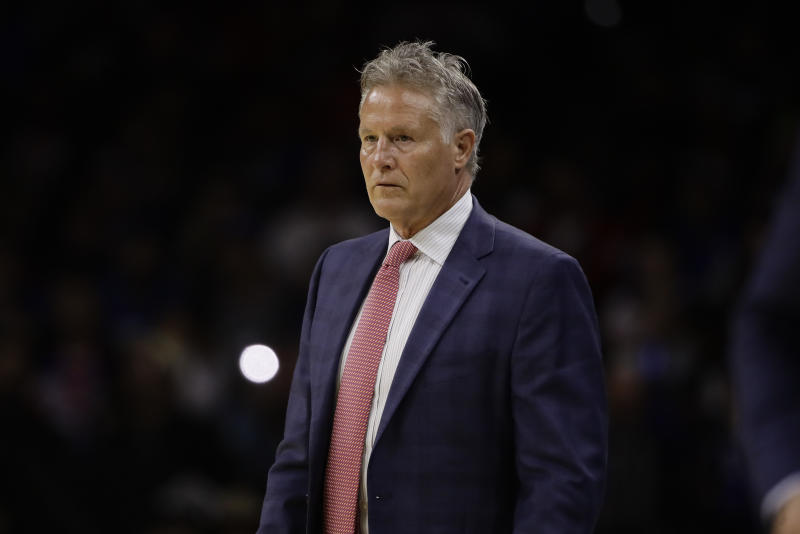 Former Philadelphia 76ers coach Brett Brown