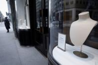 Closed luxury retail stores on 5th Avenue in Manhattan during outbreak of the coronavirus disease (COVID-19) in New York