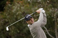 Martin Kaymer, of Germany, watches his tee shot on the 11th hole during the first round of the PGA Championship golf tournament at TPC Harding Park Thursday, Aug. 6, 2020, in San Francisco. (AP Photo/Jeff Chiu)