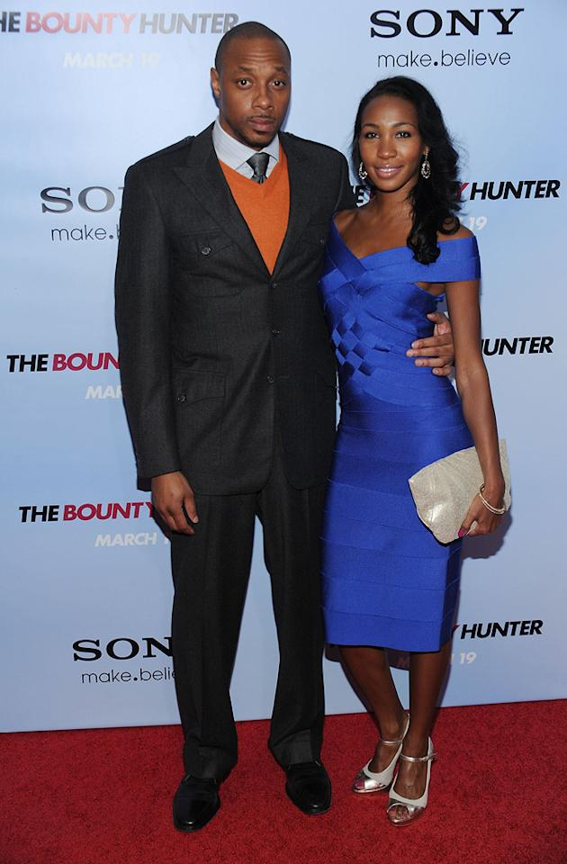 """<a href=""""http://movies.yahoo.com/movie/contributor/1808417229"""">Dorian Missick</a> and guest at the New York City premiere of <a href=""""http://movies.yahoo.com/movie/1810129411/info"""">The Bounty Hunter</a> - 03/16/2010"""