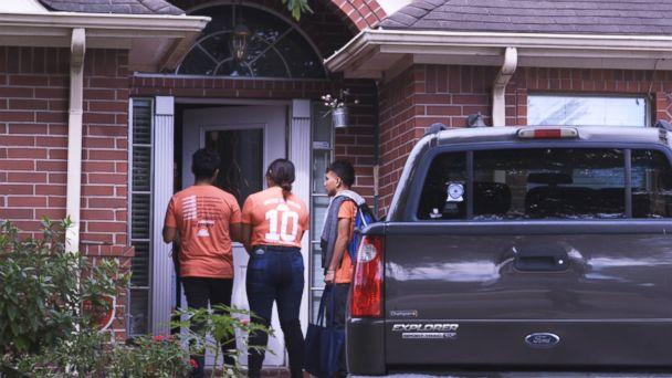 PHOTO: United We Dream volunteers canvass Houston, knocking on doors asking residents to vote. (ABC News)