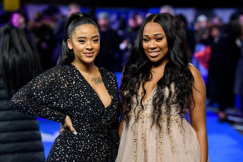 """Yinka Bokinni and Shayna Marie Birch-Campbell attend the """"Blue Story"""" world premiere at Picturehouse Central on November 14, 2019, in London (Photo: Joe Maher via Getty Images)"""
