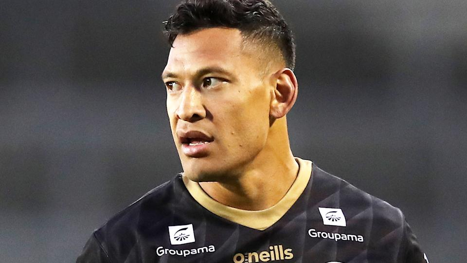 Israel Folau, pictured here in action for the Catalans Dragons in the Super League.
