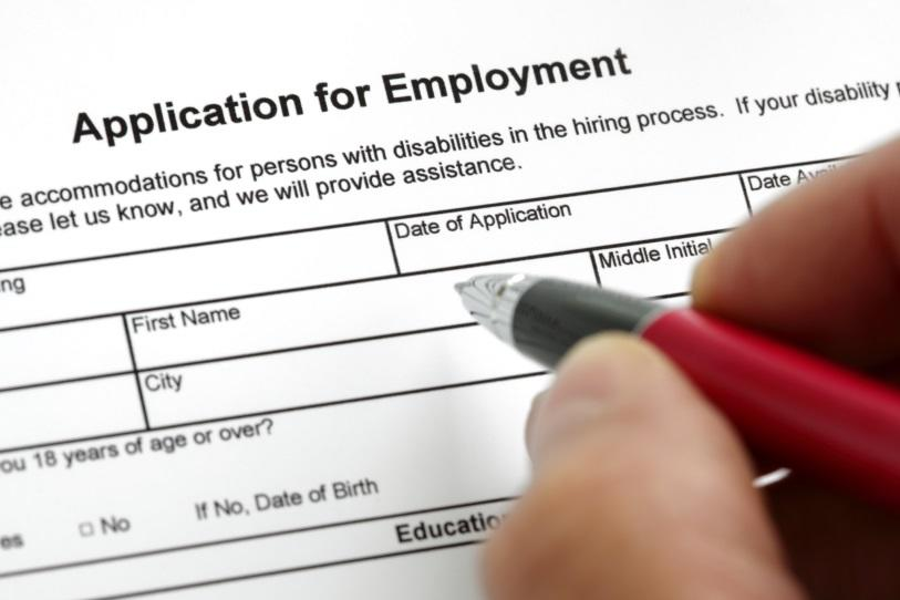 Application for employment.