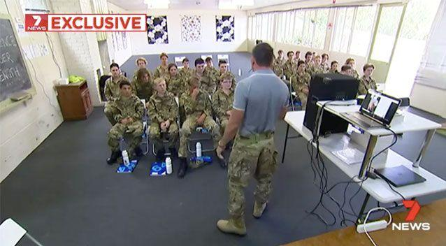 A sense of discipline is instilled into the participants. Source: 7 News