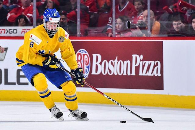 Rasmus Dahlin recently led Sweden to a silver medal at the World Junior Championship. Next up? The Olympics. (NBC)
