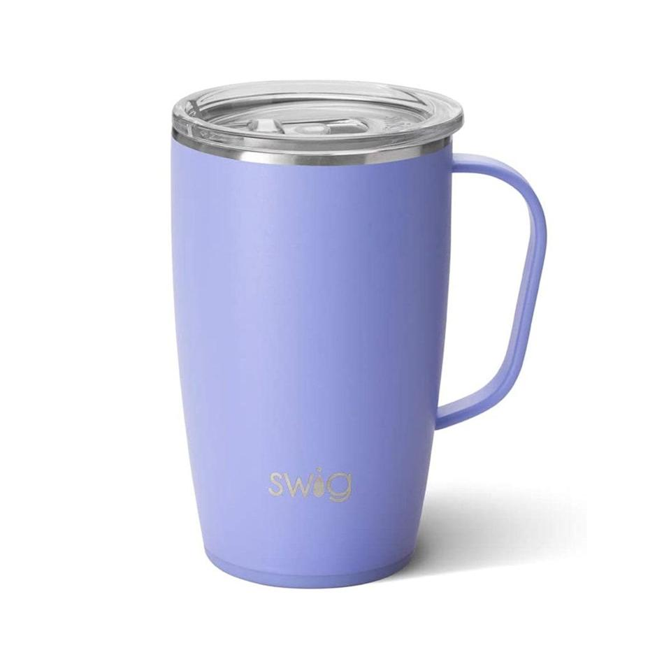 """One of my favorite gifts I've received has been a Swig insulated mug (has a lid, non-skid bottom, and is insulated) to hold my tea/coffee in the morning. It keeps my drinks warm through almost half of my shift—and a plus about this mug is that it fits into my car cup holder...no spillage of hot tea.—<em>Jaryn Iwamoto, R.N., BSN, CWOCN. Wound, ostomy, continence coordinator</em> $32, Amazon. <a href=""""https://www.amazon.com/Swig-Life-Insulated-Dishwasher-Stainless/dp/B084DCM3DZ?ref_=ast_sto_dp&th=1"""" rel=""""nofollow noopener"""" target=""""_blank"""" data-ylk=""""slk:Get it now!"""" class=""""link rapid-noclick-resp"""">Get it now!</a>"""
