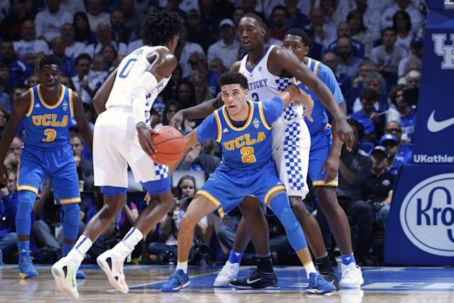 Players like De'Aaron Fox and Lonzo Ball make college basketball exciting, but a set of 2015 amendments have had a broader effect. (Getty)