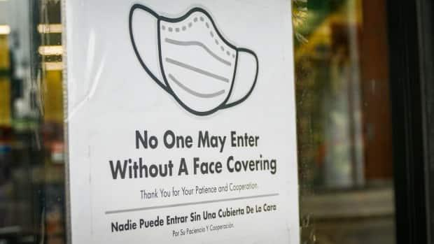 Many grocery stores in B.C. had policies requiring customers to wear masks before they were made mandatory by the province.