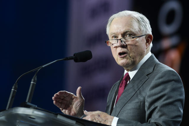 U.S. Attorney General Jeff Sessions at the Western Conservative Summit in Denver, June 8, 2018. (Photo: Aaron Ontiveroz/Denver Post via Getty Images)