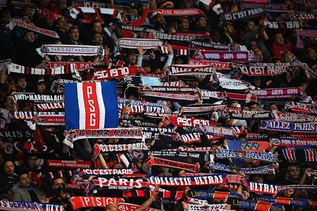 The PSG ultras. (Getty)