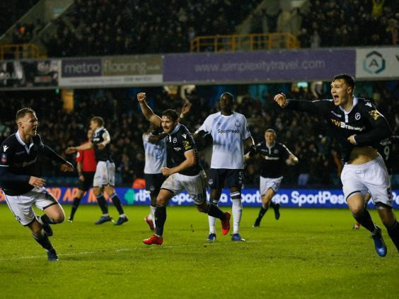 Cooper's goal set Millwall on the way to an FA Cup upset (AFP/Getty Images)