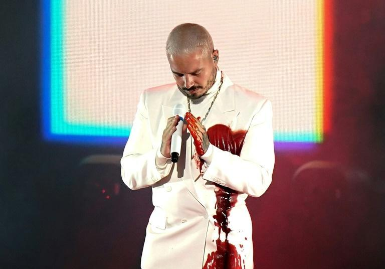 J Balvin performs at the 2020 Latin Grammy Awards in Miami, a show restricted over the coronavirus