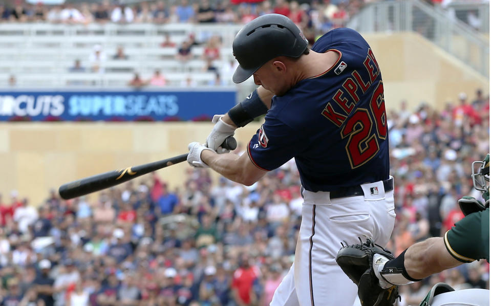 The Minnesota Twins became the fastest team to hit 200 home runs in a season, needing just 103 games. Team home run leader Max Kepler hit No. 200. (AP)
