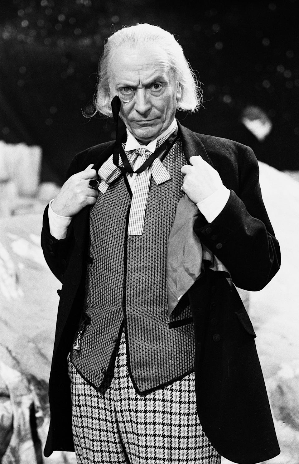 Actor William Hartnell - the first Doctor - pictured during rehearsals at Television Centre - Studio TC1 - 10th February 1965. (Photo by Sunday Mirror/Mirrorpix/Getty Images)