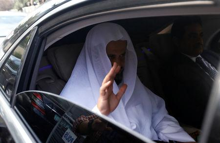 Saudi public prosecutor Saud Al Mojeb reacts as he leaves from Saudi Arabia's consulate in Istanbul