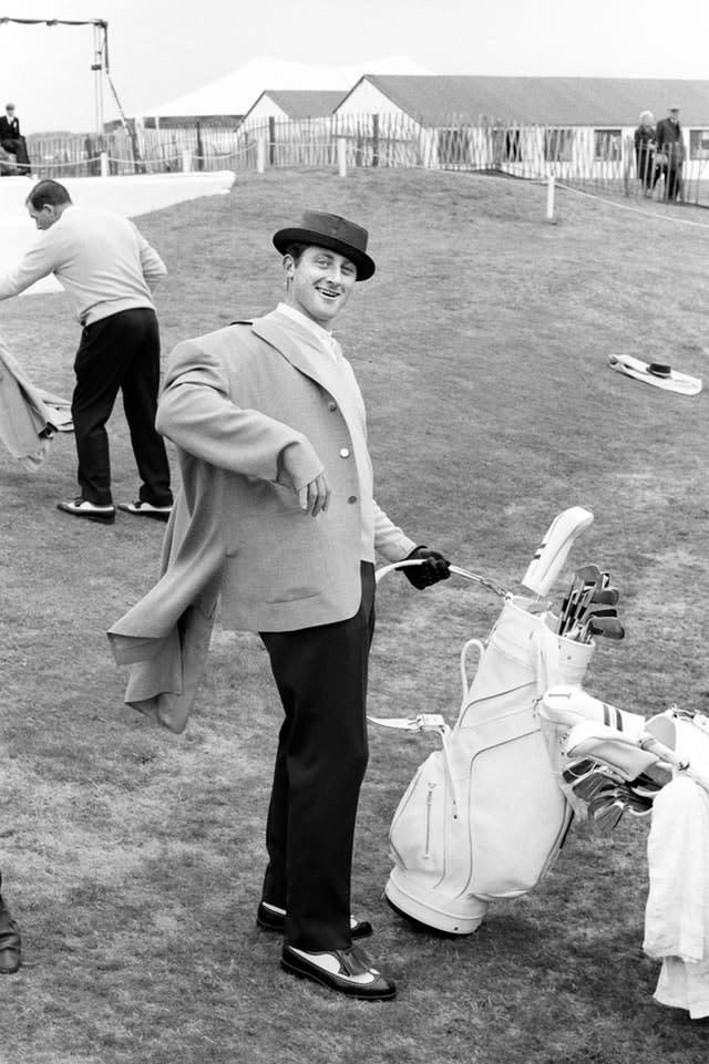 Brian Barnes in a joking mood, during the preliminaries for the 1969 Ryder Cup (PA)