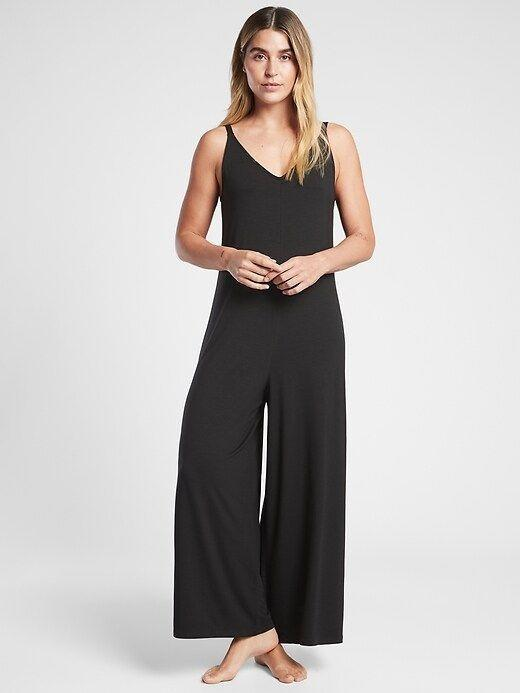 """<p><strong>Athleta</strong></p><p>athleta.gap.com</p><p><strong>$64.00</strong></p><p><a href=""""https://go.redirectingat.com?id=74968X1596630&url=https%3A%2F%2Fathleta.gap.com%2Fbrowse%2Fproduct.do%3Fpid%3D981316002%26vid%3D1%26tid%3Datpl000049%26kwid%3D1%26ap%3D7%26gclid%3DCjwKCAjw7fuJBhBdEiwA2lLMYQzrvashj4hlaUi6R8XBL9K2h9SCeBwifgZnv8xQZAjsrTtAL9khkBoCAHcQAvD_BwE%26gclsrc%3Daw.ds&sref=https%3A%2F%2Fwww.womenshealthmag.com%2Flife%2Fg37581188%2Fpajamas-for-women%2F"""" rel=""""nofollow noopener"""" target=""""_blank"""" data-ylk=""""slk:Shop Now"""" class=""""link rapid-noclick-resp"""">Shop Now</a></p><p>This loose v-neck sleep romper from Athleta is another pick that can go from bed to work and happy hour in seconds. Plus, it goes up to size 3X.</p>"""