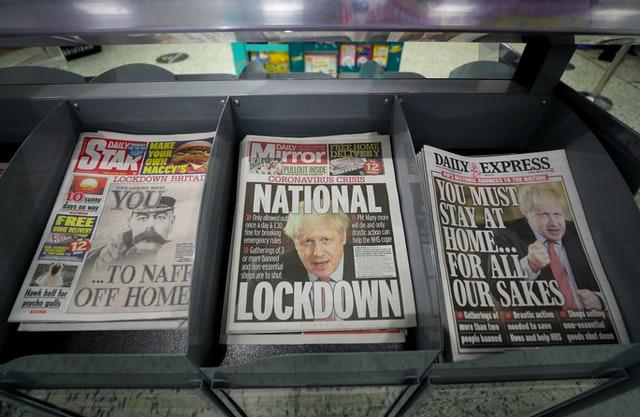 Newspapers suffered from a drop in sales and falling advertising revenue during the lockdown. David Davies/PA Wire