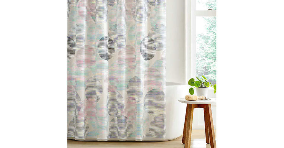 Simply Essential Overlapping Circles PEVA Shower Curtain (Photo: Bed Bath & Beyond)