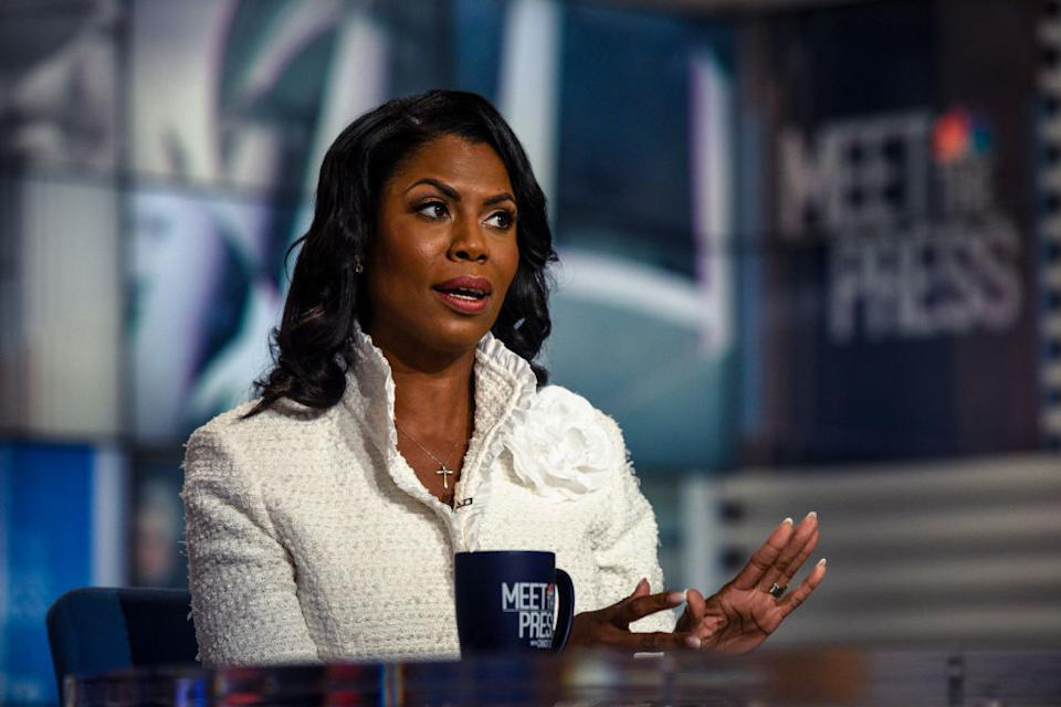 Omarosa Manigault Newman during a news interview. Source: Getty