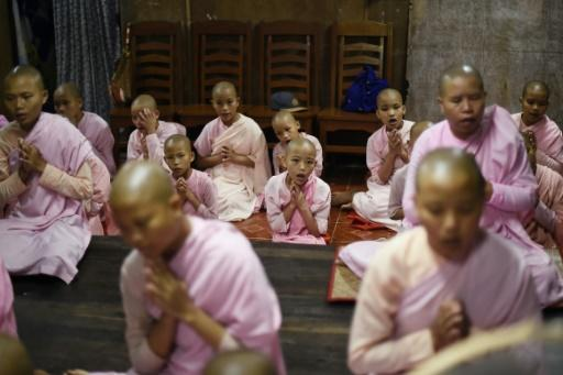There are nearly 18,000 child nuns and novice monks attending monastic schools in Myanmar's commercial capital