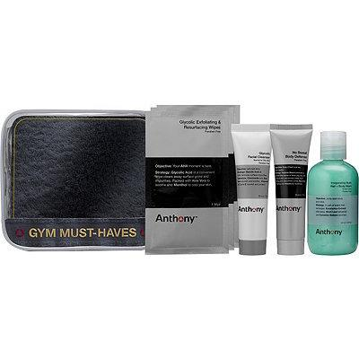"""<p>A post-workout kit is essential for a guy's gym bag. This set includes an anti-chafing cream, glycolic facial cleanser, and a body wash that doubles as shampoo. Plus, for those days you're rushing out the door, the glycolic exfoliating wipes are a gentle and convenient way to remove dirt and grime.</p><p><b><a href=""""http://www.ulta.com/gym-must-haves?productId=xlsImpprod13711025"""">Anthony Gym Must-Haves</a>($20) </b><i>(Photo: Anthony Logistics)</i></p>"""