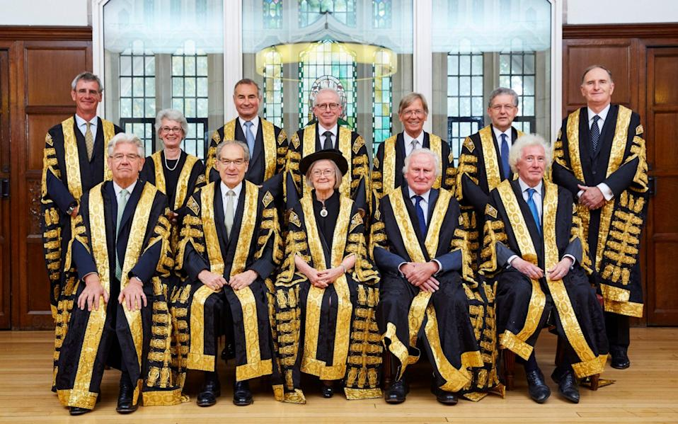 Lord Kerr with the Supreme Court judges 2017  - UK Supreme Court/Kevin Leighto
