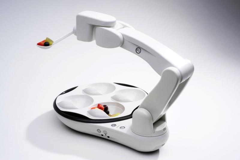 Obi is a robot that helps disabled diners feed themselves