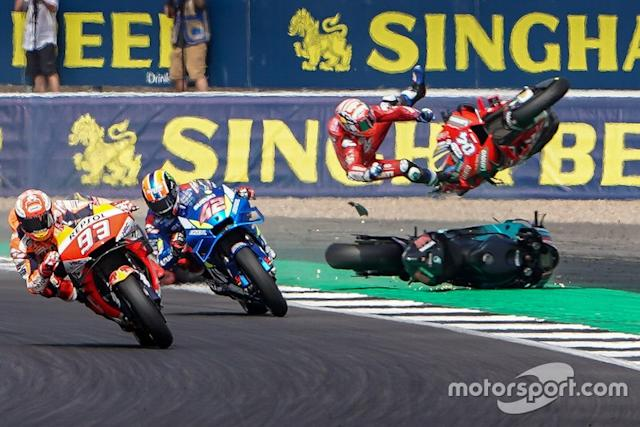 Alex Rins, Team Suzuki MotoGP, Marc Marquez, Repsol Honda Team, incidente di Andrea Dovizioso, Ducati Team