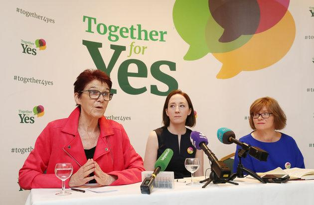 The three co-directors of Together For Yes hold a final press conference after Friday's referendum