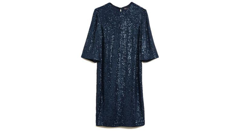 Sequin Knee Length Shift Dress