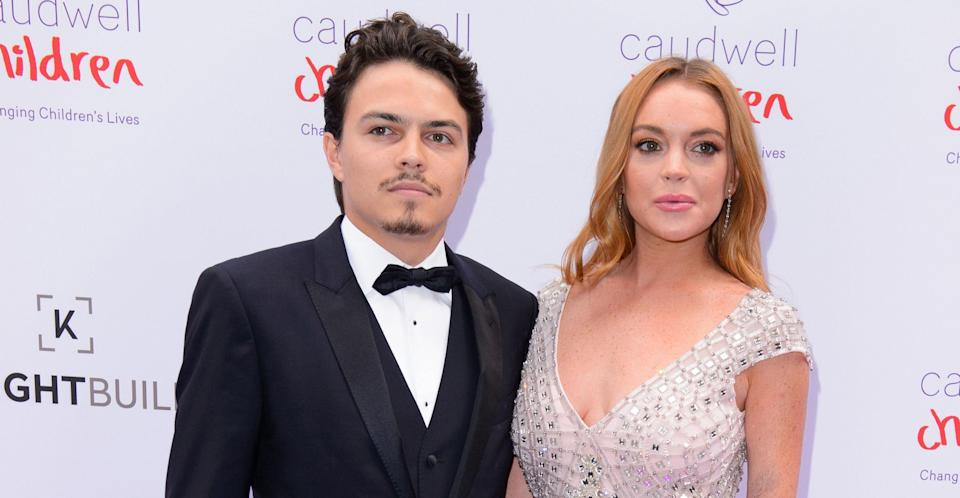 Lohan with her former fiancé Tarabasov in 2016. (PA Images)