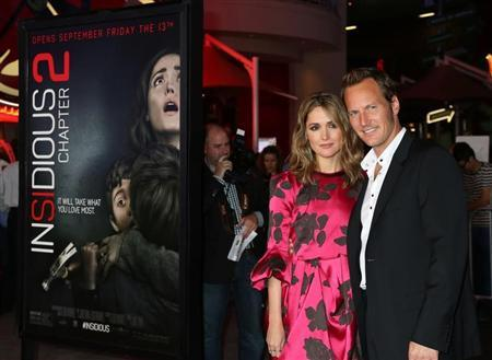 "Actors Rose Byrne and Patrick Wilson arrive for the premiere of their new film ""Insidious Chapter 2"" in Los Angeles"
