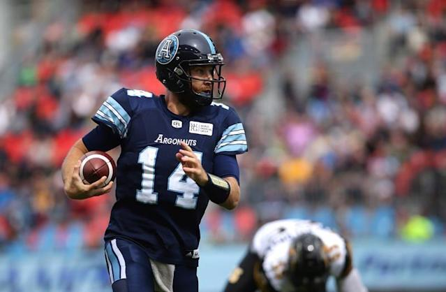 """TORONTO — He's had roughly two days to prepare, but that's more than enough for McLeod Bethel-Thompson.Bethel-Thompson makes his first start of the season Saturday night when Toronto (0-2) hosts the B.C. Lions (0-3) at BMO Field. The Argos are coming off a 32-7 road loss to the Saskatchewan Roughriders on Monday, a game that saw starter James Franklin suffer hamstring injury that's landed him on the six-game injured list.Bethel-Thompson has appeared in both of Toronto's games this season, completing 12-of-22 passes for 125 yards with a touchdown and interception. He was 3-of-6 passing for 26 yards versus Saskatchewan following Franklin's injury.Despite the tight timelines, Bethel-Thompson is raring to go.""""I'm very prepared,"""" he said Friday. """"I prepare every week like I'm the starter, that's the job of a backup and I've been doing this for a little bit now.""""I was prepared last week and I was prepared two weeks ago. Now, it's just a few more reps Saturday, a little bit more time to see how prepared I am.""""Toronto has been outscored by a whopping 96-21 margin in its two losses. Offensively, the Argos are last in the CFL in scoring, net offence (300.5 yards per game) and second-last in sacks allowed (eight) and turnovers made (six). """"I've rarely, if ever, got beat that badly,"""" Bethel-Thompson said of Toronto's early struggles. """"But those scores were not indicative of how far away we are, we're a lot closer than people think.""""Football is such an ebb-and-flow game . . . feast or famine in a lot of ways. It's such a big field and once you kind of pry open those inches, then it becomes yards and then big plays. As bad as the scores were, we were really close, a couple of plays here or there early in the game and (then) it's a different story.""""The six-foot-four, 230-pound Bethel-Thompson started eight games last season for Toronto. The Argos won Bethel-Thompson's opening two starts —including a 24-23 decision over B.C. on Aug. 18, 2018 — before dropping the next six, after wh"""