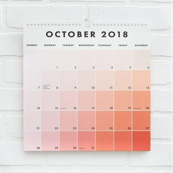 "<p>A beautifully soothing ombre calendar will add a bit of style to your manager's workspace. Though the calendar starts in August, it runs all the way through the end of 2019.</p> <br> <br> <strong>Paper Source</strong> 2018-2019 Paint Chip Calendar, $18.71, available at <a href=""https://www.papersource.com/desk/2018-2019-paint-chip-calendar-10004788.html"" rel=""nofollow noopener"" target=""_blank"" data-ylk=""slk:Paper Source"" class=""link rapid-noclick-resp"">Paper Source</a>"