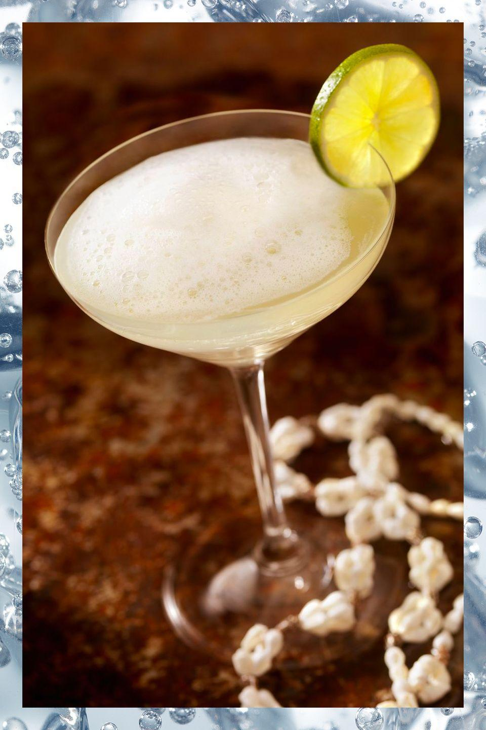 """<p>Forget the sweet frozen version made with a blender. A <a href=""""https://www.townandcountrymag.com/leisure/drinks/a3218/daiquiri-cocktail/"""" rel=""""nofollow noopener"""" target=""""_blank"""" data-ylk=""""slk:classic daiquiri"""" class=""""link rapid-noclick-resp"""">classic daiquiri</a> is one of the most well-balanced cocktails around.</p><p>- 2 oz light rum<br>- 1 oz simple syrup<br>- 1 oz lime juice</p><p><em>Shake ingredients with ice and strain into cocktail glass. Garnish with lime wheel.</em></p><p><strong>More</strong>: <a href=""""https://www.townandcountrymag.com/leisure/drinks/g9539373/sweet-and-fruity-cocktail-recipes/"""" rel=""""nofollow noopener"""" target=""""_blank"""" data-ylk=""""slk:The Best Sweet and Fruity Cocktails Ever"""" class=""""link rapid-noclick-resp"""">The Best Sweet and Fruity Cocktails Ever</a></p>"""