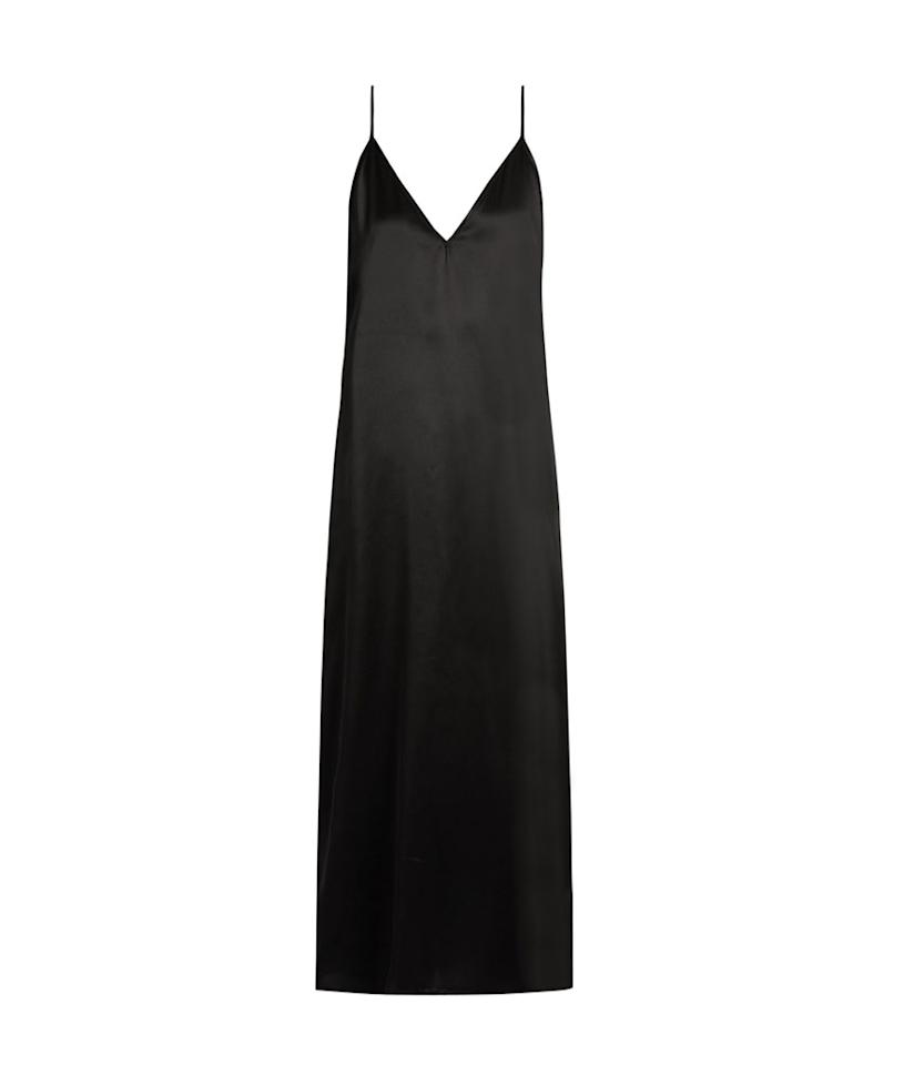 "<p>Raey V-Neck Silk-Satin Midi Slip Dress, $187, <a rel=""nofollow"" href=""http://www.matchesfashion.com/us/products/1087288?LGWCODE=1087288000004;104037;6167&qxjkl=tsid:57534&utm_source=polyvore&utm_medium=affiliation&utm_campaign=us&utm_term=dresses"">matchesfashion.com</a> </p>"